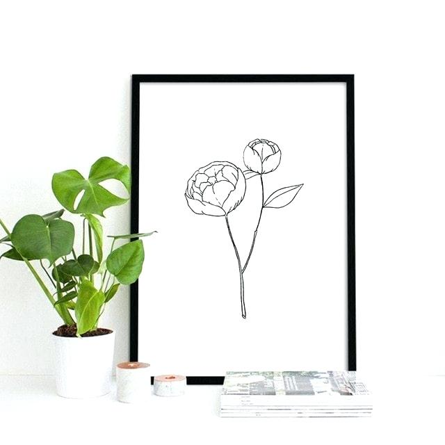 640x640 Simple Line Drawings Of Flowers Simple Style White And Black Line