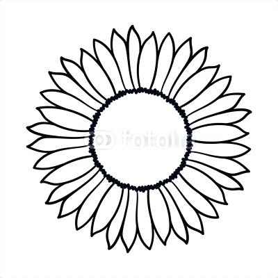 400x400 Simple Sunflower Drawing Comments Simple Sunflower Line Drawing