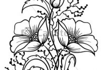 200x140 Flower Outline Drawing Simple Flower Line Drawing