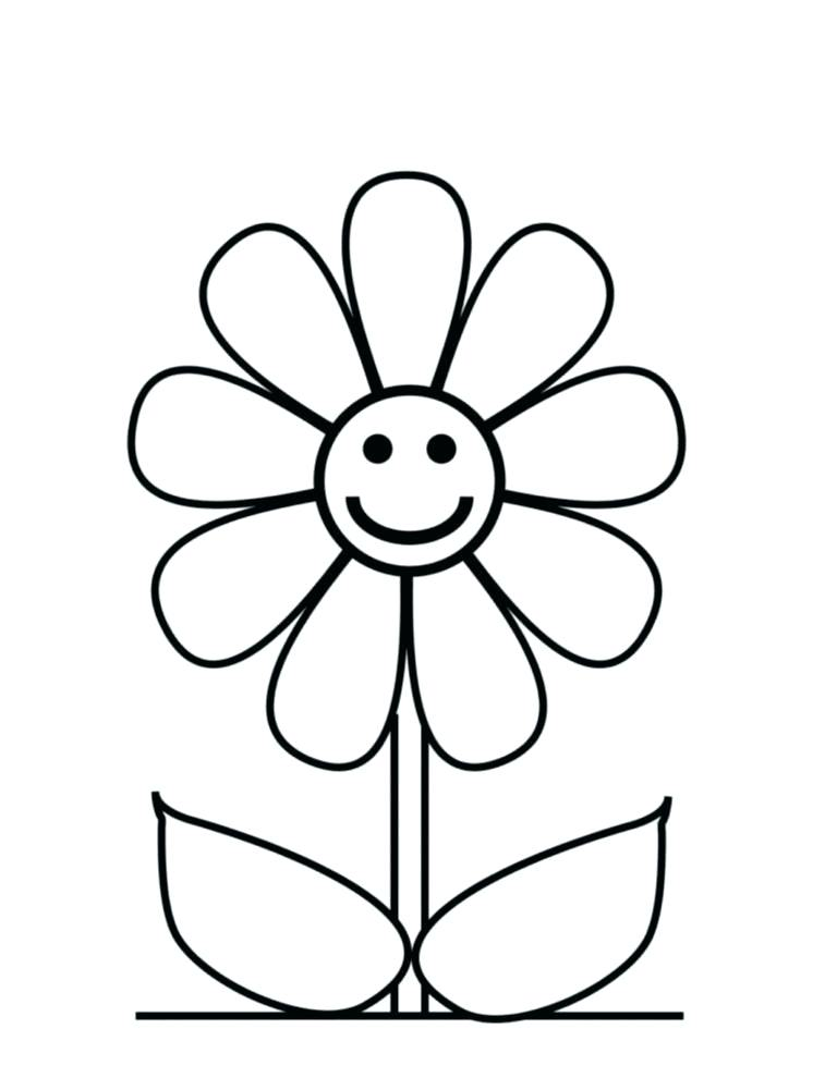 757x990 Simple Drawing Flowers