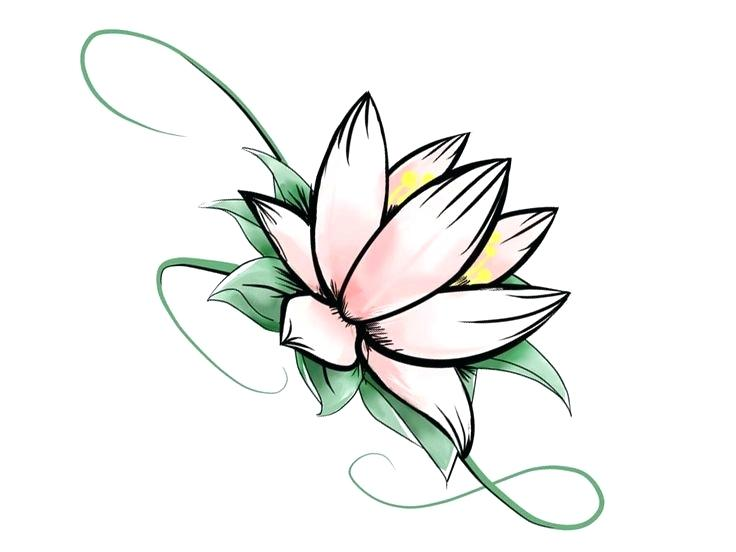 Simple Flower Pattern Drawing