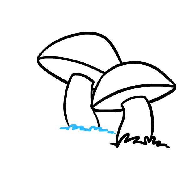 680x678 How To Draw A Mushroom