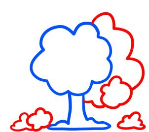 302x268 How To Draw How To Draw Trees For Kids