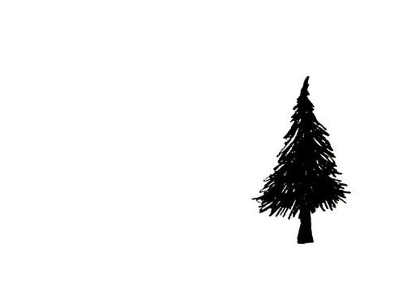 794x567 Simple Tree Art Print Black And White Minimalist Drawing Etsy