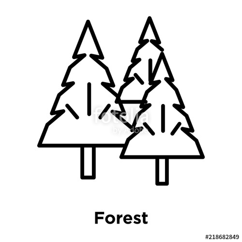 500x500 Forest Icon Isolated On White Background Modern And Editable