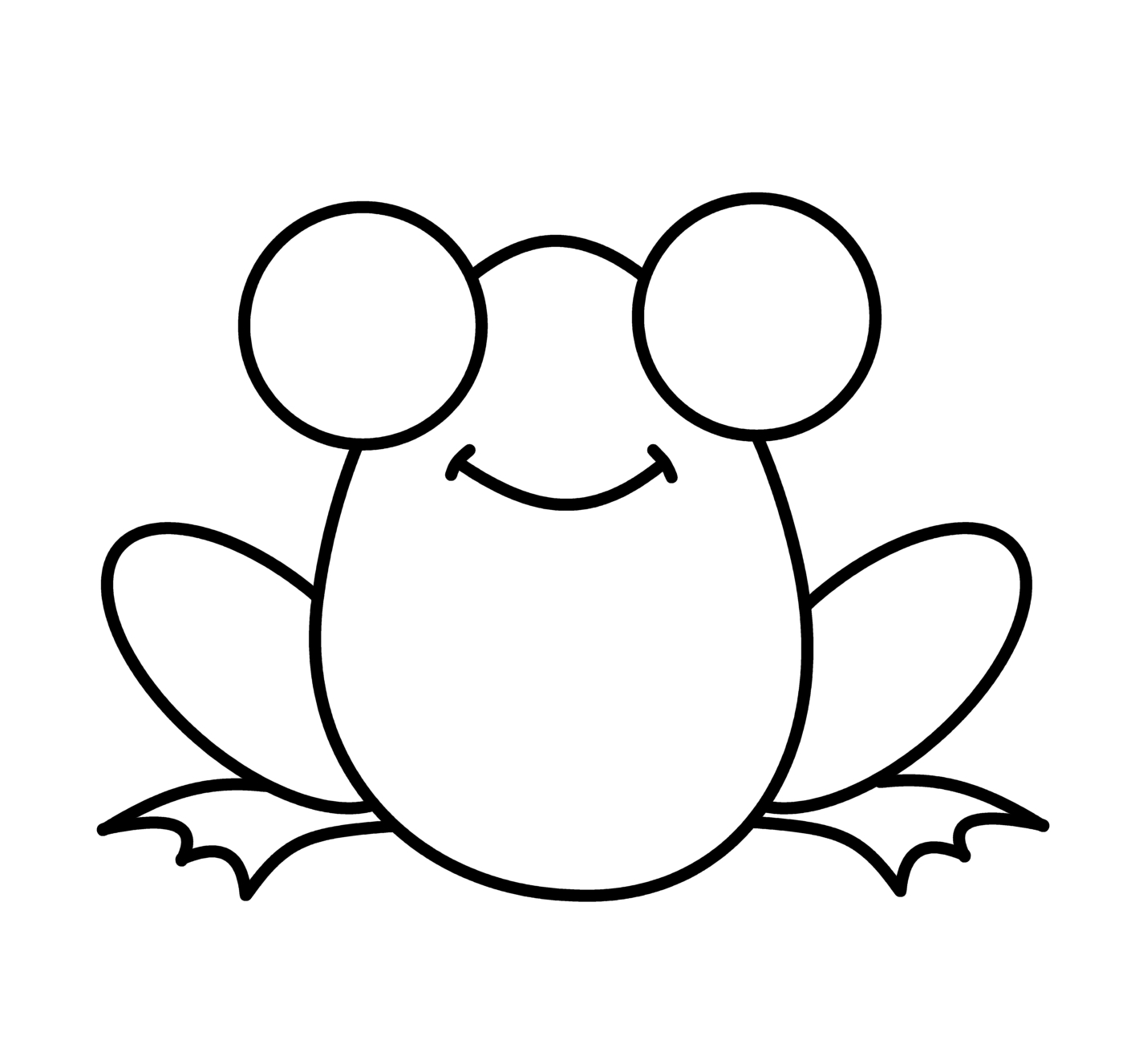 Simple Frog Drawing | Free download on ClipArtMag