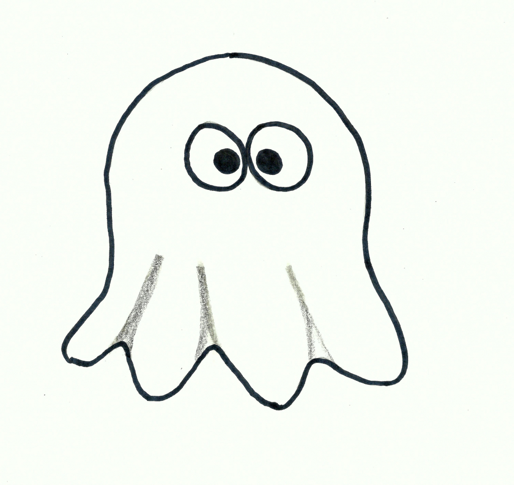 Simple Ghost Drawing