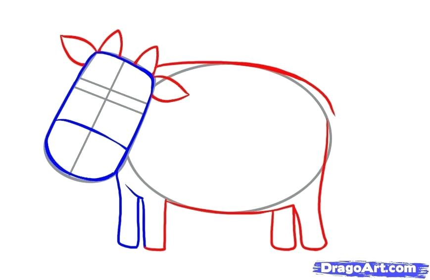 869x566 Drawing Of A Cow How To Draw A Simple Cow Step Drawing Of A Girl
