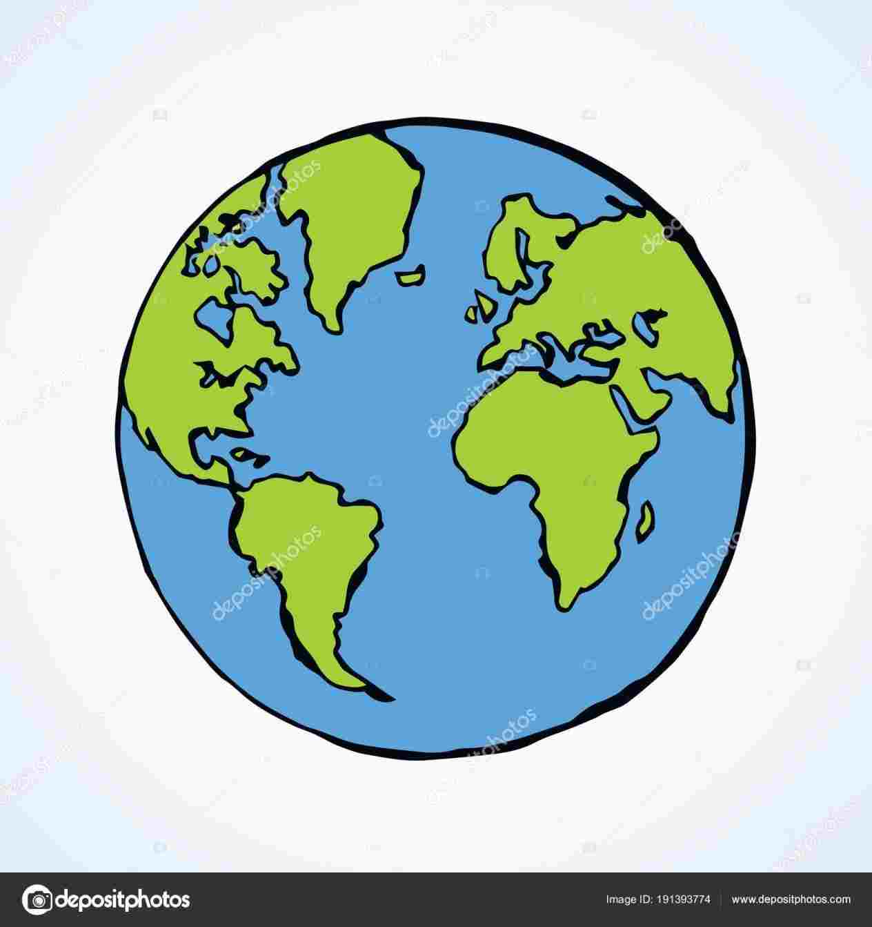 1264x1343 Globe Drawing Simple Drawing Fine Art