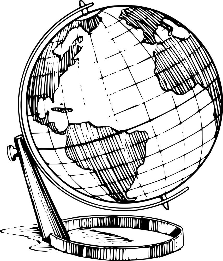 855x1000 Globe Drawing