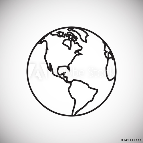 500x500 Globe Icon On White Background For Graphic And Web Design, Modern