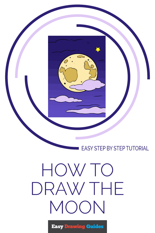 600x900 How To Draw The Moon Really Easy Drawing Tutorial