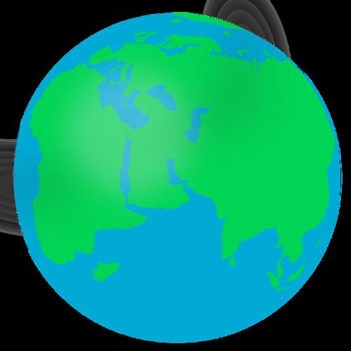 500x500 Globe Free Clipart
