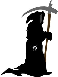 226x300 Grim Reaper Side View Transparent Png Clipart Free Download