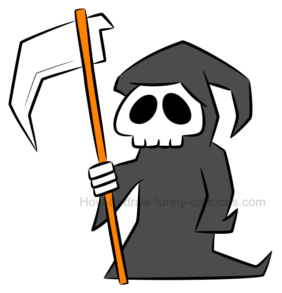 571x593 How To Draw A Grim Reaper Clipart