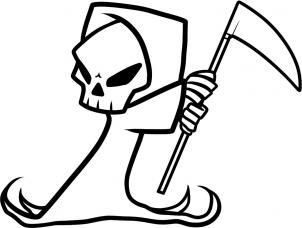 302x228 How To Draw How To Draw A Grim Reaper For Kids