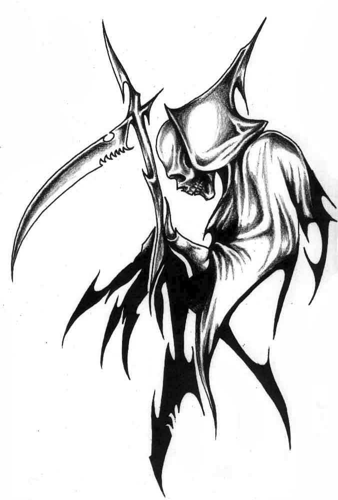676x998 Skull Tattoo Grim Reaper Tattoo