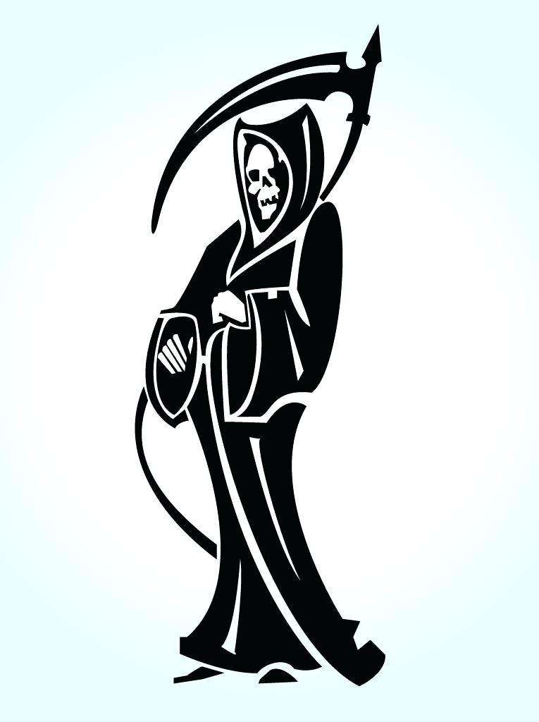 765x1024 Simple Grim Reaper Drawings Royalty Free Grim Reaper Illustration