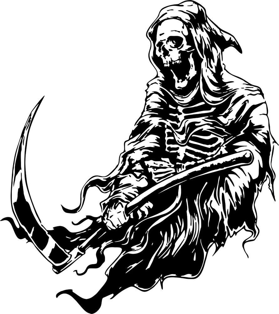 891x1000 Simple Grim Reaper Scythe Drawings