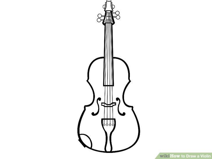 Simple Guitar Drawing