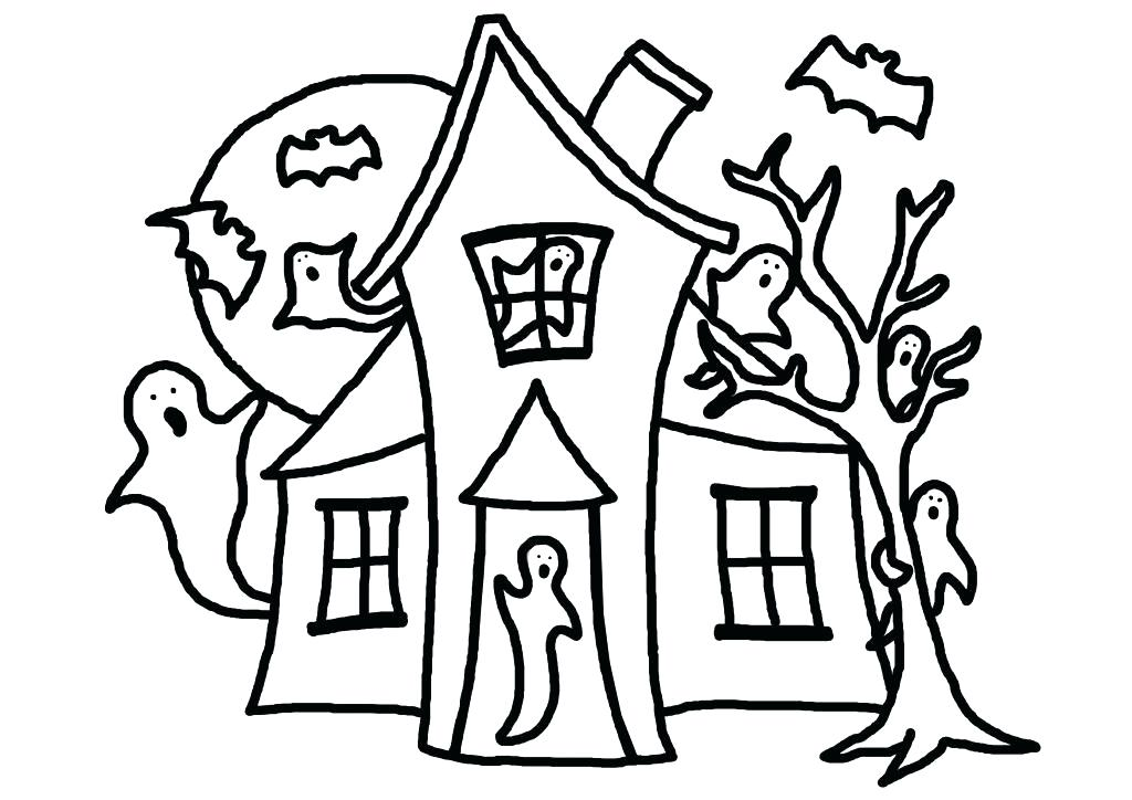 1024x724 haunted house coloring pages spooky haunted house coloring pages