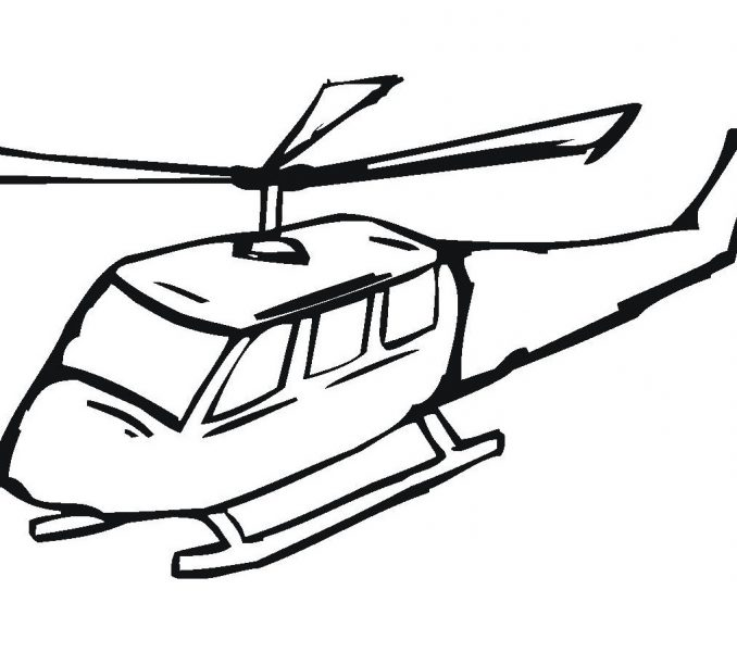 Simple Helicopter Drawing
