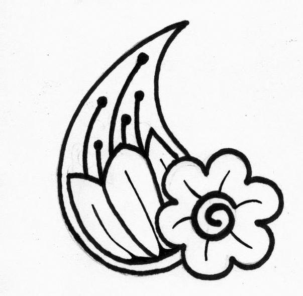 Simple Henna Drawings