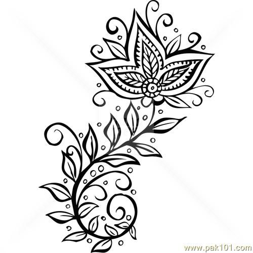 Simple Henna Drawings