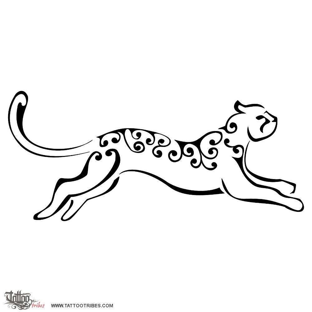 Simple Leopard Drawing