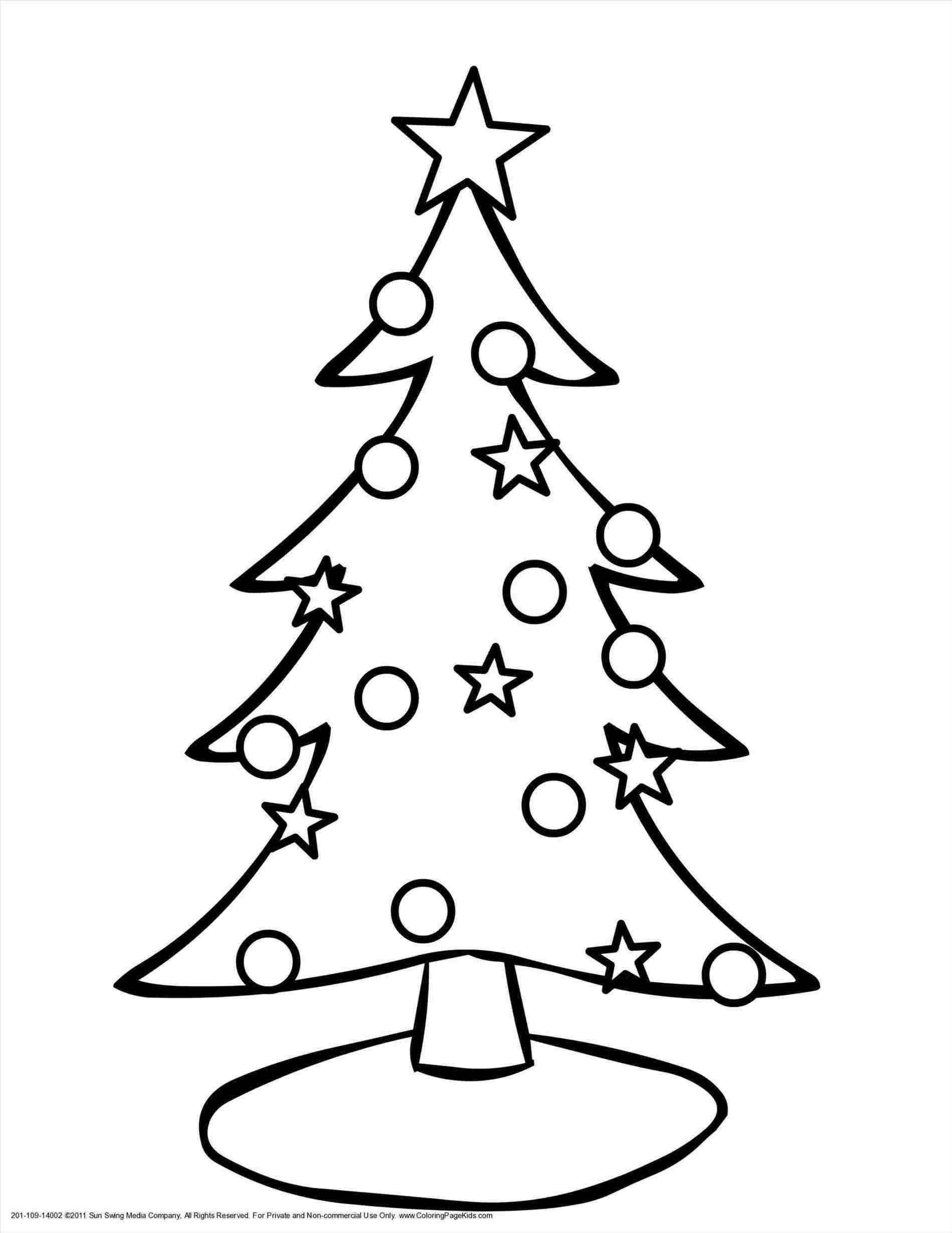 1899x2459 Simple Christmas Tree Line Drawing