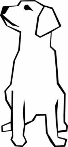 236x507 Simple Line Drawing Of A Dog Free Download Clip Art