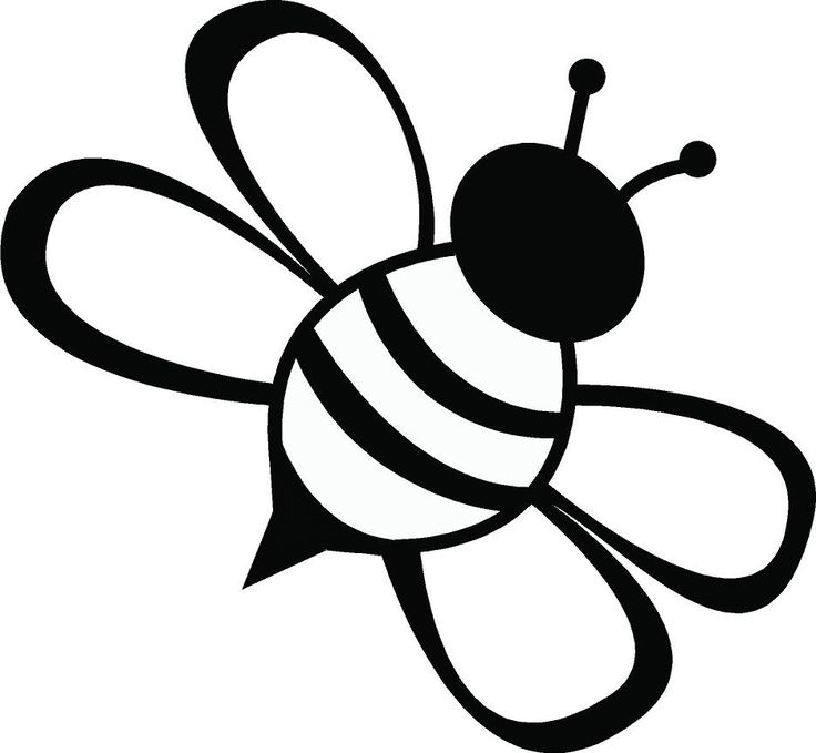 736x679 Simple Line Drawing Simple Bee Clipart Best