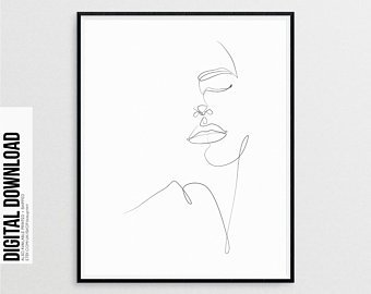 340x270 Simple Line Drawing Etsy