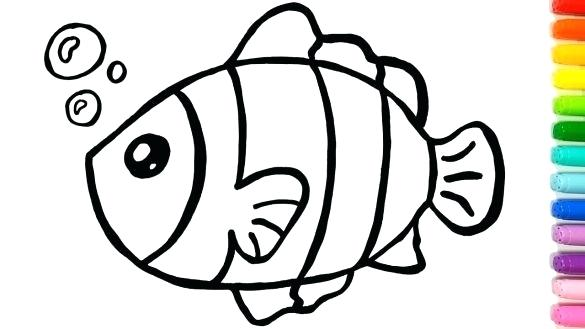 585x329 Simple Drawing Of Fish