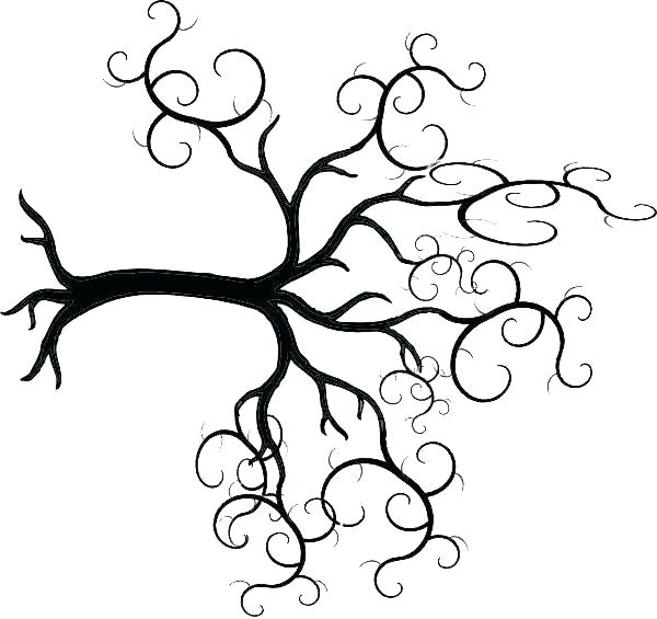 Simple Line Drawing Tree