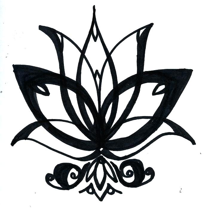 713x697 easy to draw lotus flower how to draw a lotus best lotus flower