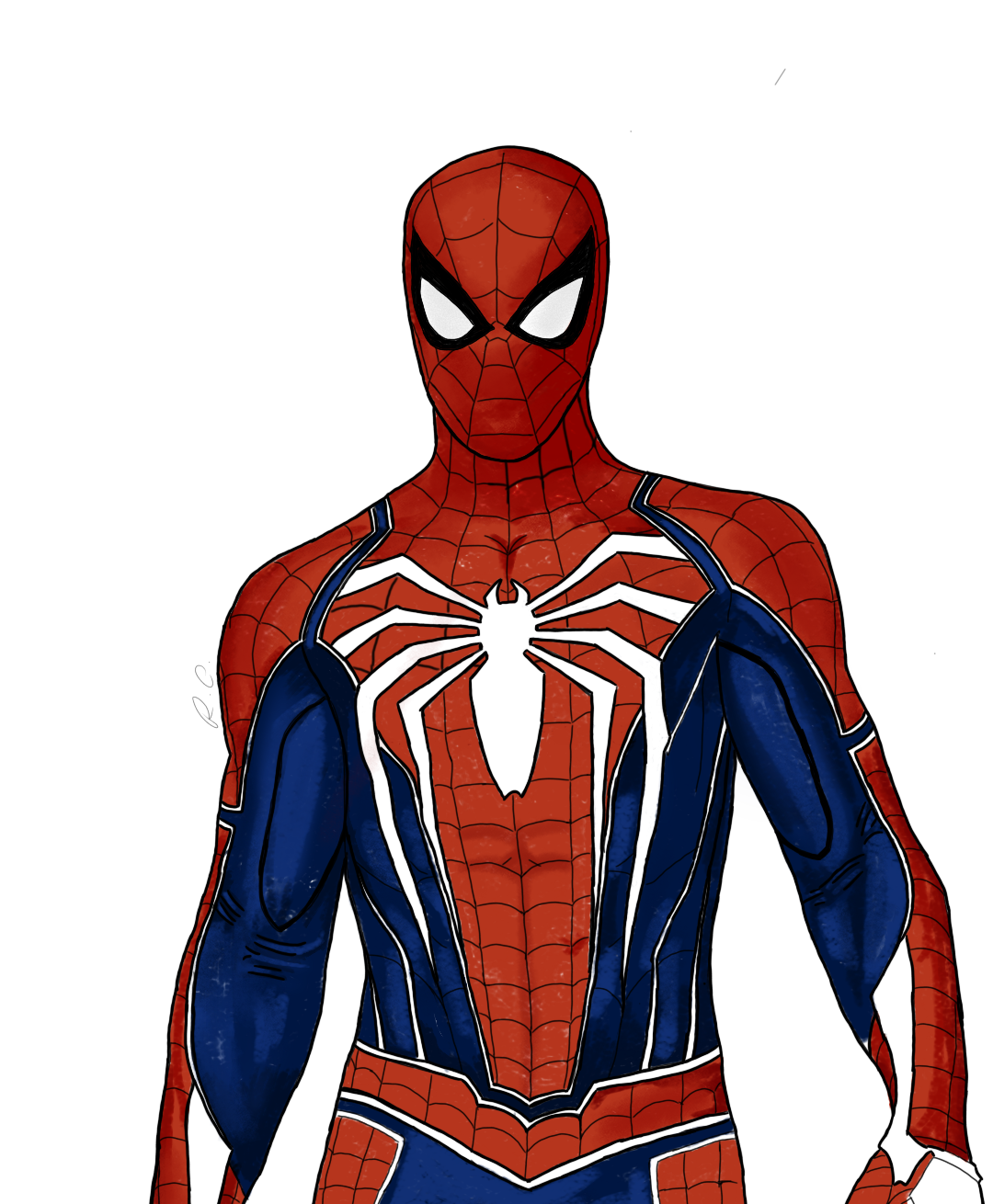 1080x1310 A Simple Advanced Suit Drawing From Marvel's Spider Man