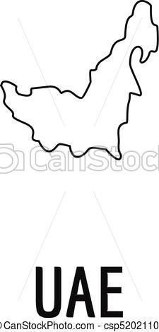 225x470 uae map thin line vector simple uae map thin line simple