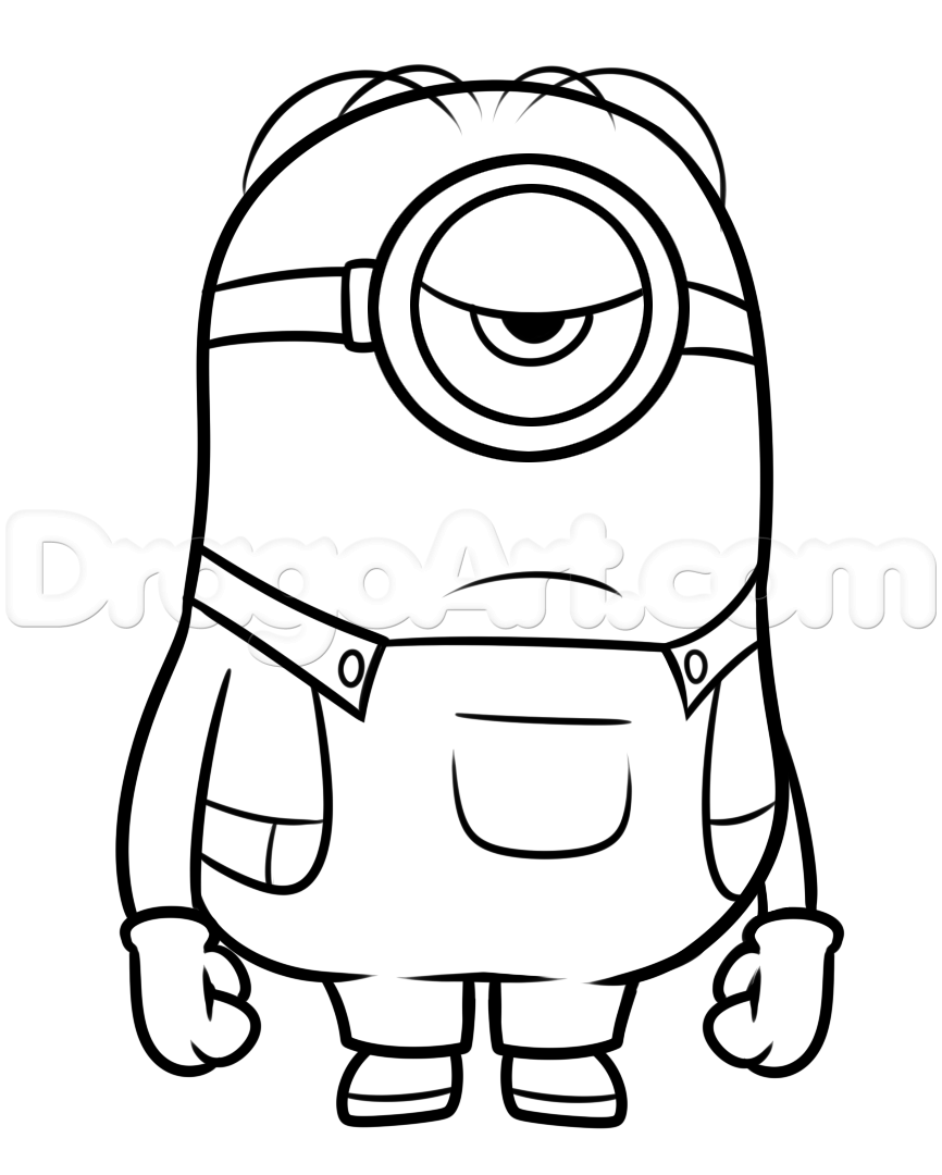 Simple Minion Drawing