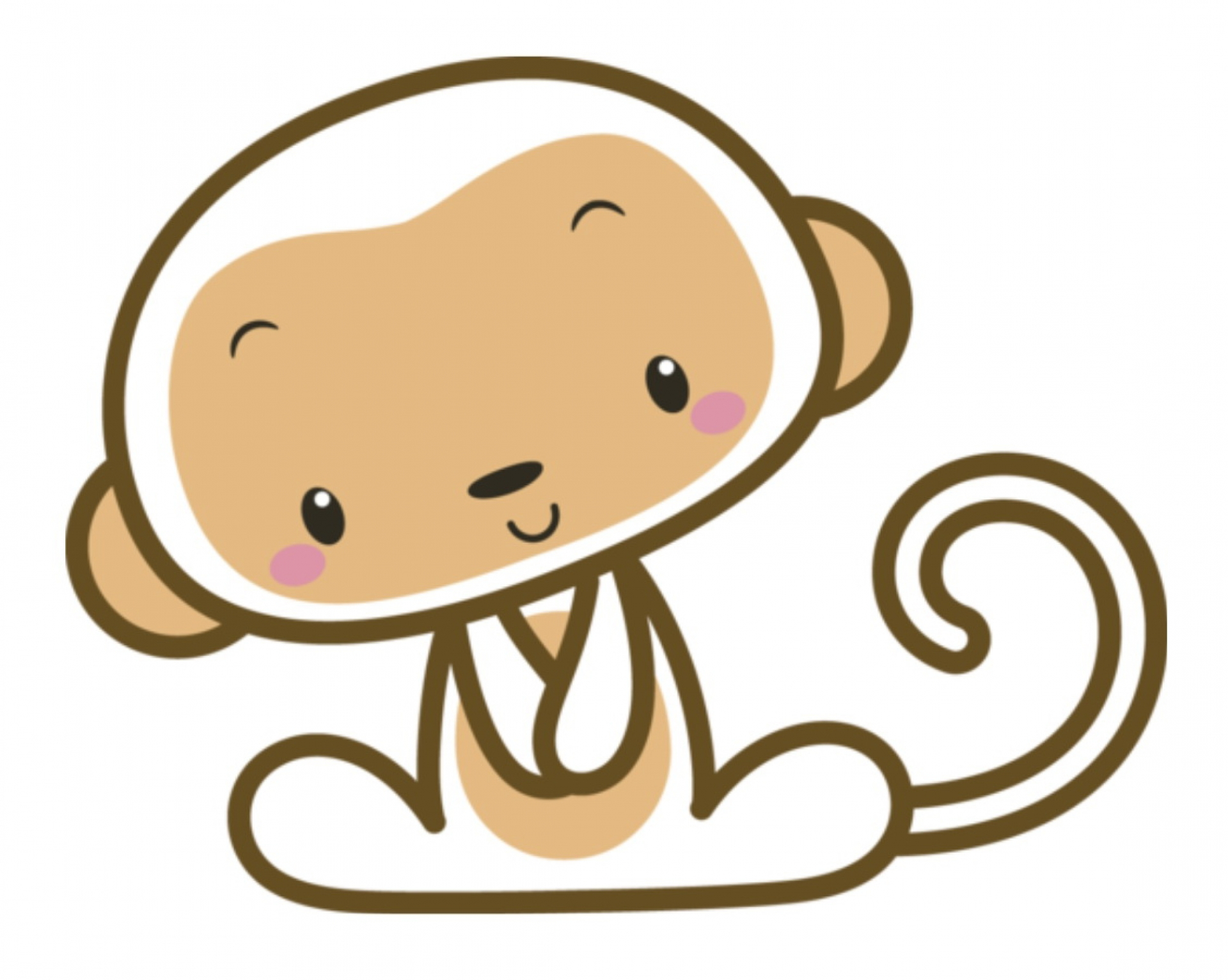 Simple Monkey Face Drawing | Free download on ClipArtMag