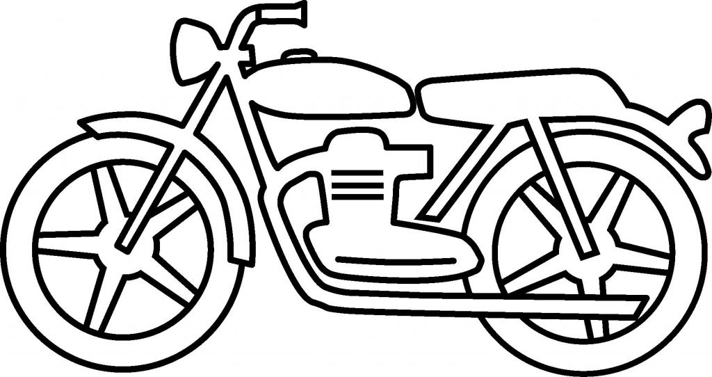 Simple Motorcycle Drawing Free Download Best Simple Motorcycle