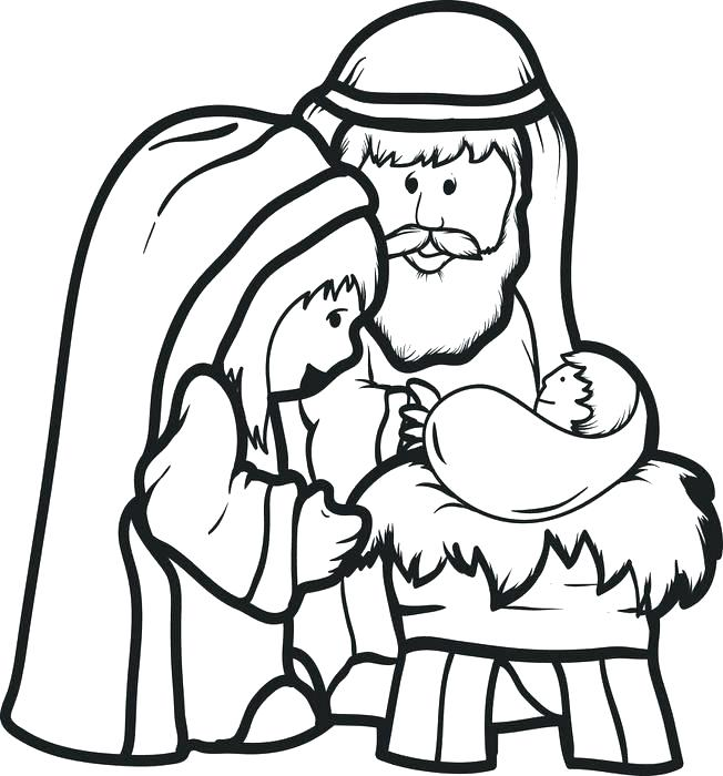 Simple Nativity Scene Drawing | Free download on ClipArtMag