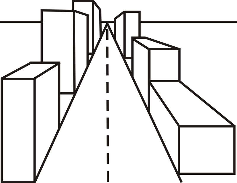 Simple One Point Perspective Drawing