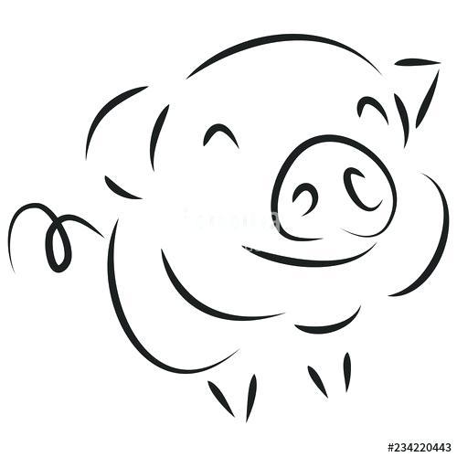 500x500 Cute Pig Drawings Cute Piglet Drawings Winnie The Pooh