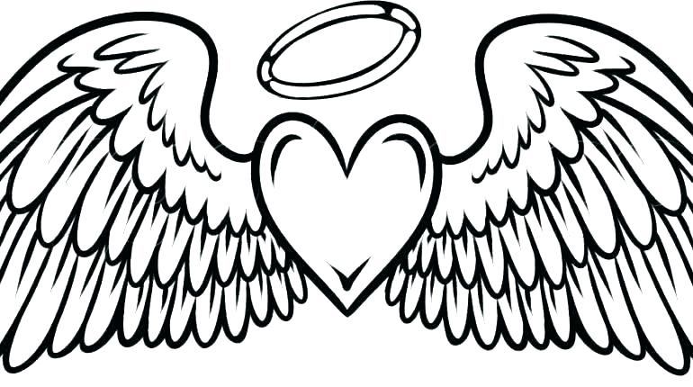 770x430 Drawing Of Hearts With Wings How To Draw A Heart With Wings