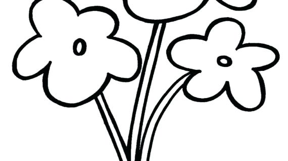 570x320 Flowers Drawing Simple Vases Bouquet Of Flowers Drawing Simple