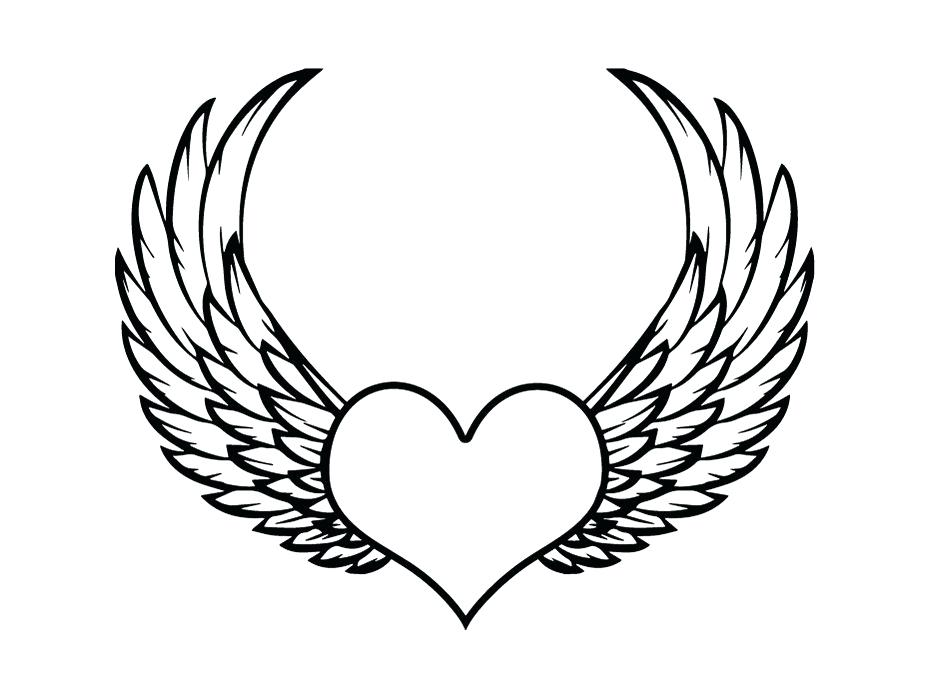 931x700 Heart With Wings Drawings Image Heart With Wings Drawings