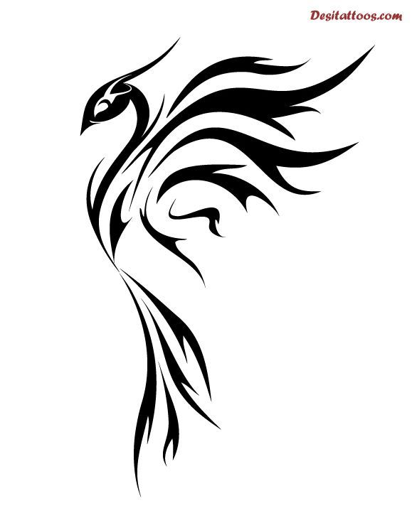 Simple Phoenix Drawing Free Download Best Simple Phoenix