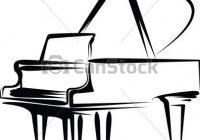 200x140 grand piano clipart grand piano hand drawing of a black grand