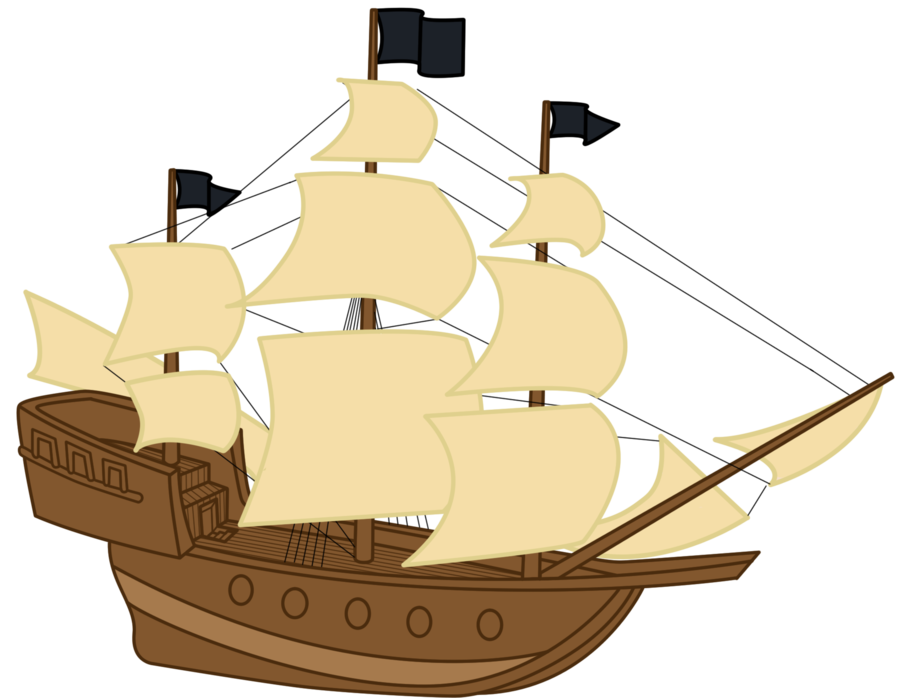 Simple Pirate Ship Drawing